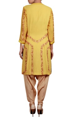 Multicolor threadwork tunic with dhoti pants
