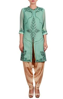 Shirt tunic with dhoti pants