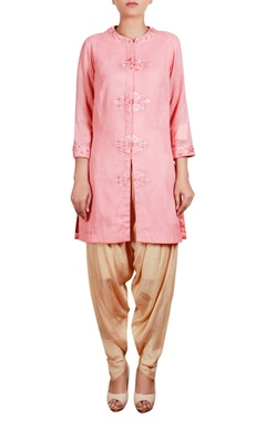 Embroidered tunic with dhoti pants