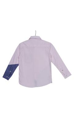 Patchwork deatiled shirt
