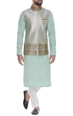 Kunal Anil Tanna - Men Embroidered nehru jacket