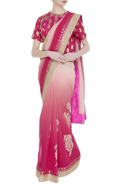 Embroidered sari with jacket blouse