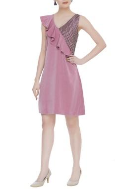 Kresha Lulla Ruffle sleeveless mini dress
