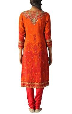 Crepe sequin embroidered kurta set