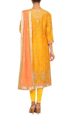 Chanderi silk sequin embroidered kurta set