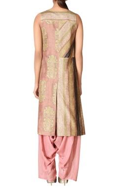 Pure silk embroidered kurta set