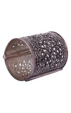 Motifs by Surabhi Didwania Cuff-style silver triballic bracelet