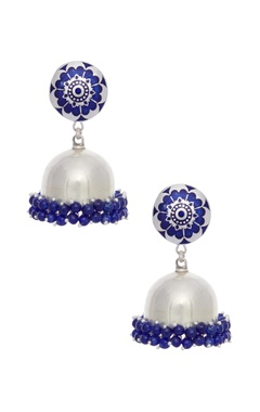 Motifs by Surabhi Didwania Enamelled silver earrings