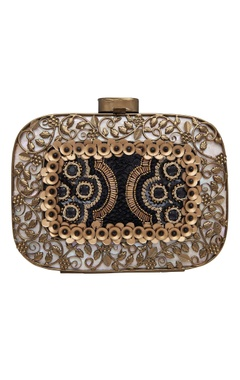Be Chic Embroidered clutch with sequin & bead work