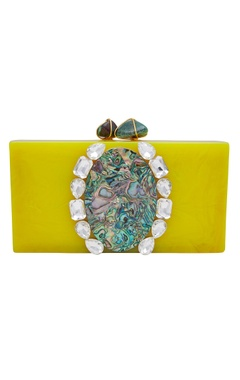 Be Chic Handmade clutch with crystal detailing