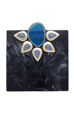 Be Chic Satement box clutch with embellishments