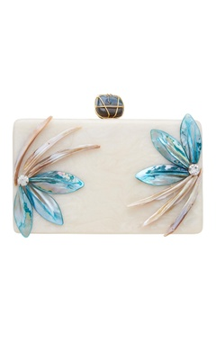 Be Chic Mother of pearl rectangular shape clutch