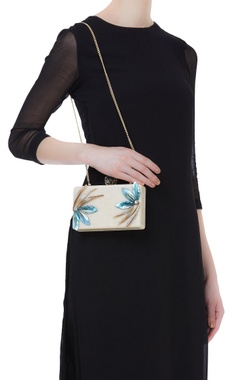 Mother of pearl rectangular shape clutch
