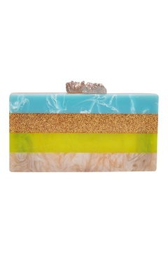 Be Chic Statement clutch with natural stone knobs