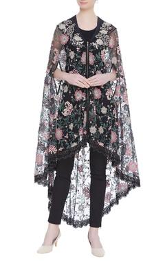 Kavita Bhartia Embroidered cape with pants