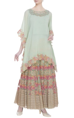 Kavita Bhartia Embroidered tunic with sharara pants
