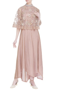 Kavita Bhartia Rose embroidered cape & asymmetric dress
