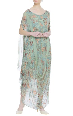 Kavita Bhartia Cowl draped printed maxi dress