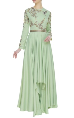 Neeta Lulla Embroidered high low tunic with pants