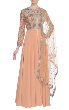 Neeta Lulla Pleated flare embroidered kurta set