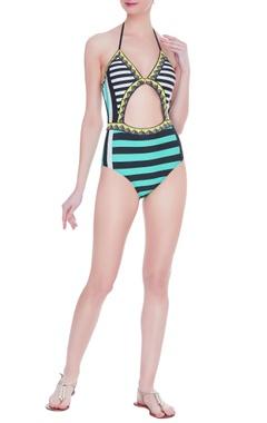 Striped nautical monokini