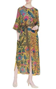 Divya Sheth Kalamkari hand painted shirt dress