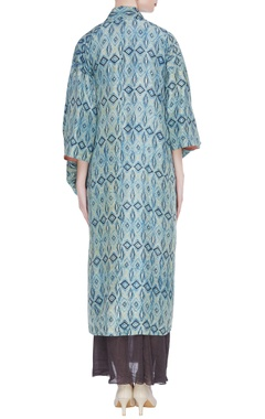 Diamond printed silk kimono jacket