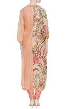 Hand painted cape with dhoti & tunic