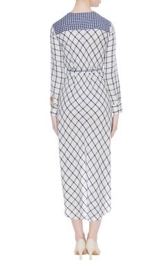 Striped & checkered hand spun khadi dress