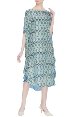 Hand block print naturally dyed dress