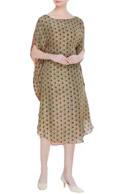 Divya Sheth Earthy toned hand block print dress