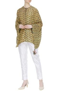 Divya Sheth Hand block naturally dyed kimono shirt