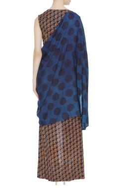 Wrap style layered maxi dress