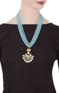 Tiered style bead statement necklace