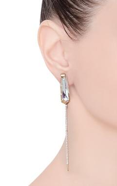 Perito rose earrings
