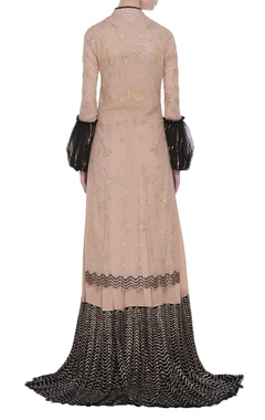 Sequin & zardozi jacket gharara set