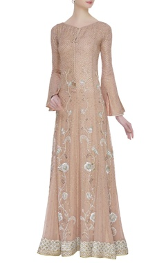 House of Kotwara Sequin & pearl embroidered pleated gown
