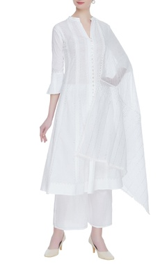 House of Kotwara Chikankari embroidered kurta & palazzo set