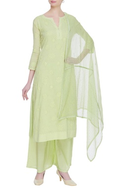 House of Kotwara Hand embroidered chikankari kurta set