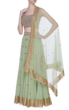 Pearl embroidered lehenga set