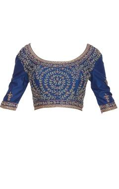 Embroidered saree blouse with dori closure
