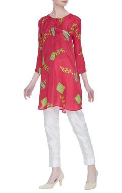 Kite motif printed short tunic