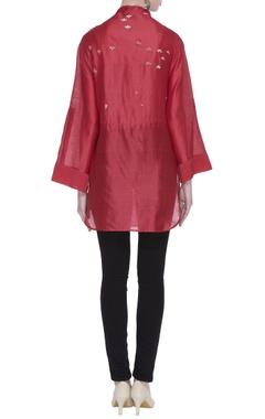 Chanderi pleated tunic