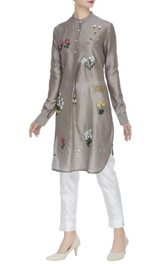 Sahil Kochhar Floral embroidered & sequin work tunic