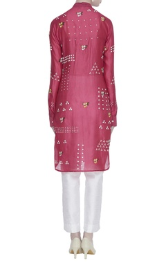 Floral embroidered & sequin work tunic