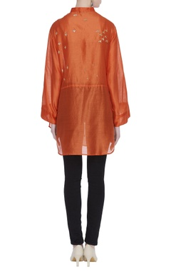 Hand embroidered tunic embellished with sequins