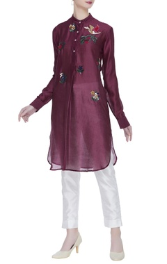 Sahil Kochhar Hand embroidered chanderi tunic