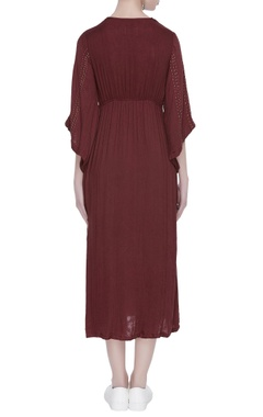 Front knot midi dress