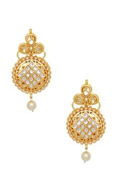 Just Shradha's Pearl & kundan earrings
