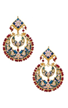 Just Shradha's Meenakari earrings